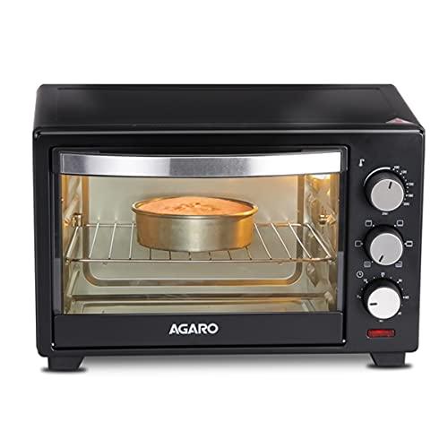 AGARO Marvel 19 Liters Oven Toaster Griller, Motorised Rotisserie Cake Baking OTG with 5 Heating Mode, (Black)