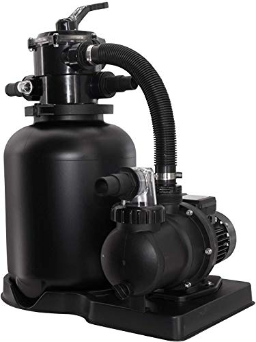 well2wellness Pool Sandfilteranlage Poolfilter ECO Black Special Edition Ø300mm inkl. Filterpumpe SPS 50-1