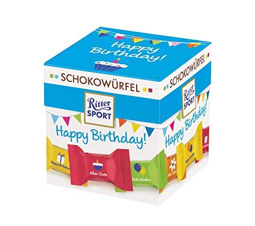 Ritter Sport Schokowürfel Happy Birthday, 176 g.