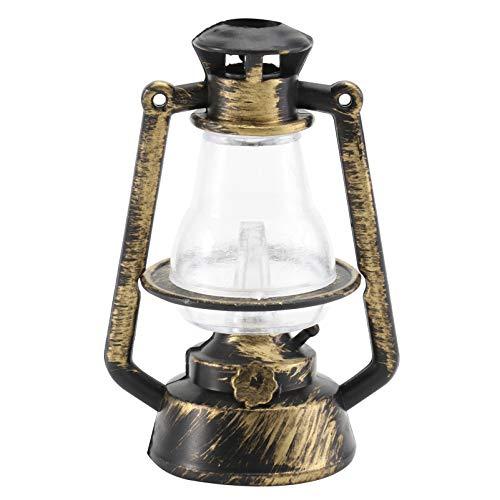 Toddmomy Linterna de Huracán en Miniatura Linterna de Casa de Muñecas Lámpara de Queroseno Vintage Accesorios de Casa de Muñecas en Miniatura Decoración de Lámpara de Aceite