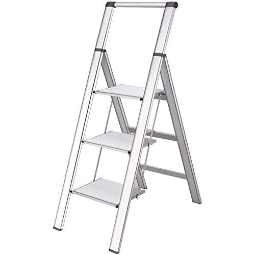 HYY-YY Plegable de Aluminio Escalera Plegable heces Inicio multifunción portátil Escalera Plegable Taburete