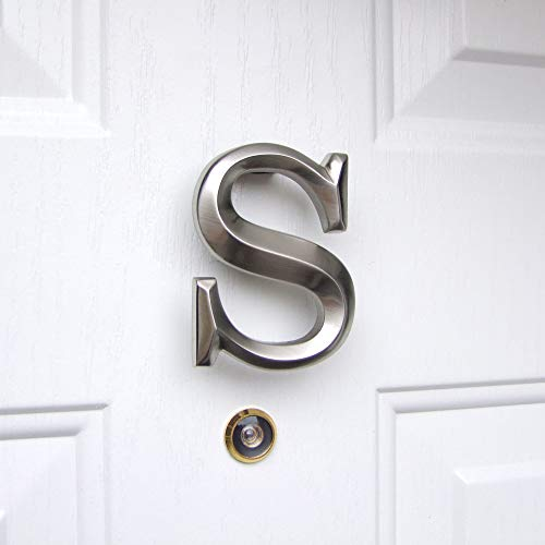 Monogram Letter S Door Knocker - Nickel