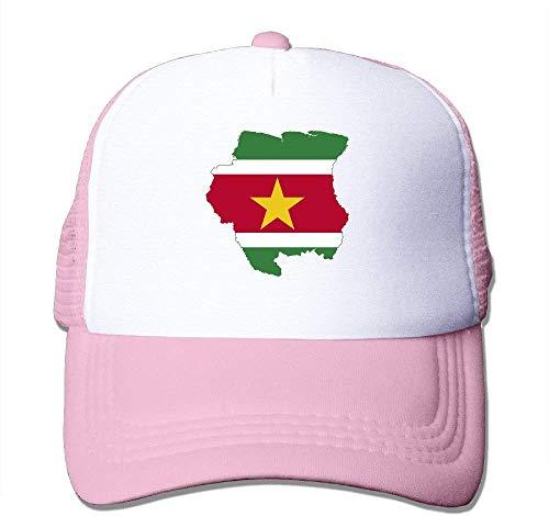 63251vdgxdg Flag Map of Suriname Nylon Adult Baseball Cap Baseball Hat