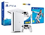PS4 Slim 500Gb Blanca Playstation 4 Consola + FIFA 19