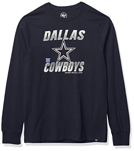 NFL Dallas Cowboys Mens Super Rival LS, Navy, L
