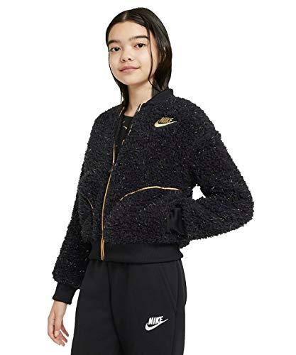 Nike Chaqueta para niña negro/Lurex dorado Negro L