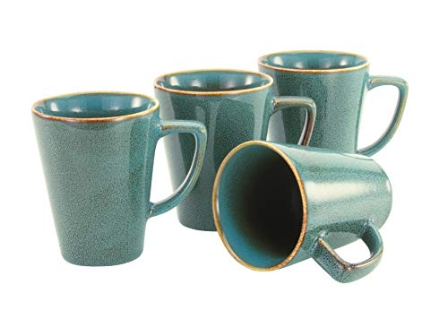 Creatable, 22323, Serie RETRO STYLE Glasuren, Geschirrset, Kaffeebecher 4 teilig, Steinzeug
