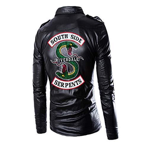 ZHYIYI Nuevo Riverdale Chaqueta De Cuero para Hombre Chaqueta De Cuero Mediana para Motocicleta para Caballero Chaqueta Británica para Hombre (M - 4XL)