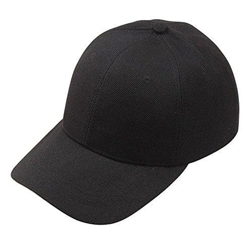 BUKINIE Couleur Unie Protection UV Running Sport Casquette de Baseball Chapeau de Soleil Sun Visor Hat Casquette Hip-Hop Trucker pour Hommes et Femmes (Noir)