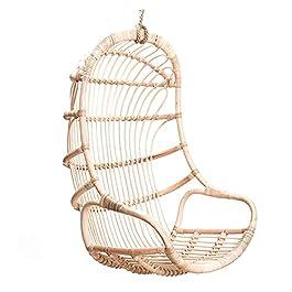 DEALBUHK Balançoire suspendu chaise suspendue panier de rotin meubles d'oiseau chaise de nid d'oiseau berceau d…