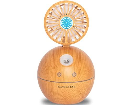 Diffuseur d'Huiles Essentielles avec Ventilateur intégré, 150ml Humidificateur Ultrasonique Electrique Aromathérapie, avec lumières LED 7 Couleurs, EXCLUSIF E-BOOK AROMATHERAPIE OFFERT