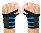 GERBERA Wrist Support Band With Thumb Loop Strap For Men And Women (BLUE) compression tights Feb, 2021