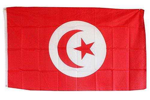 Creation Gross Fahne Flagge Tunesien 0,90m x 1,50m mit Metallösen zum Aufhängen (0520637)