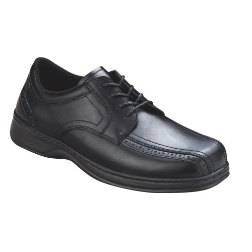 Orthofeet 465 Men's Comfort Diabetic Therapeutic Extra Depth Shoe: Black 12 X-Wide (4E) Lace