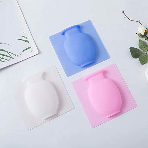 Jarrón de silicona para nevera, pasta de flores, jarrón adhesivo de silicona, 3 piezas para colgar, decorativo y reutilizable