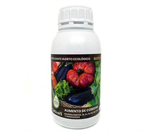 CULTIVERS Fertilizante Líquido para Huerto Ecológico de 500 ml. Abono para Hortalizas 100% Orgánico y Natural. Mejor Sabor, Mayor Calidad, Potencia el Crecimiento y Aumenta la Cosecha