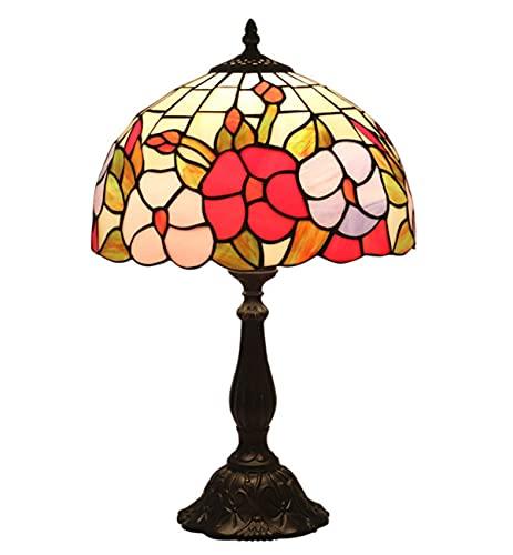 BQFLZY Tiffany Vintage Vintage Lámpara de Mesa de Vidrio de Vidrio de Vidrio para Estudio Oficina de Estudio Home Bar Dormitorio Decorativo Antique Artesanía Regalos 1 2 Pulgadas