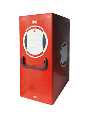 Arca 0263RO Cartella Portaprogetto con Maniglia, Dorso 20, Rosso