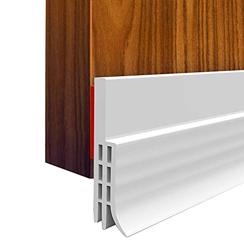 2PACK Door Draft Stopper, Strong Adhesive Door Sweep for Exterior and Interior Doors, Dustproof and Soundproof, 2