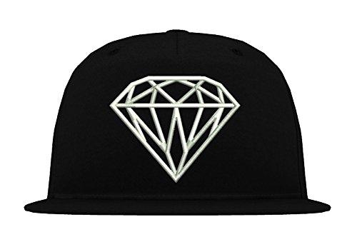 TRVPPY 5-Panel Snapback Trucker Mesh Cap Modell Diamant Diamond, Weiß-Schwarz