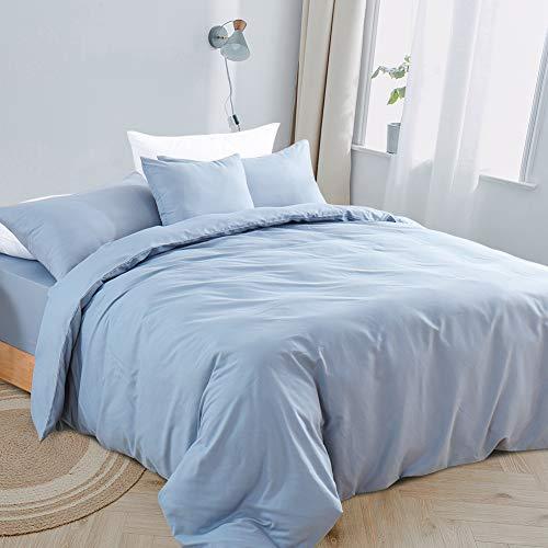 RUIKASI Fundas Nórdicas Cama 90 - Fundas Edredón Nórdico 135x200 cm con 1 Fundas de Almohada 50x75cm - Microfibra Muy Suave Transpirable, SPA Azul