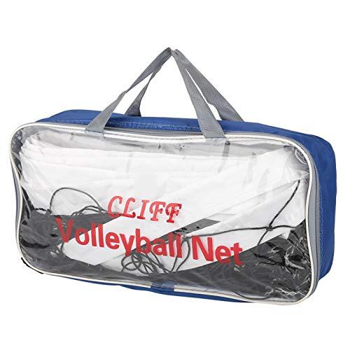 VINGVO Red de Voleibol para Interiores, Red de Voleibol de Playa Duradera y Flexible de Polietileno, 8.4x1m con Bolsa de Almacenamiento