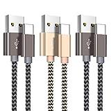 Câble USB C, Câble USB Type C [2m+2m+1m/Lot de 3] Chargeur USB C en Nylon Tressé...