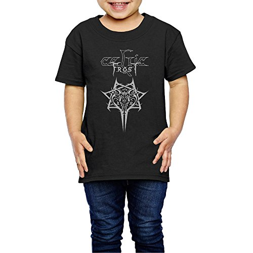 AK79 Kids 2-6 Years Old Boys and Girls Celtic Rock Band Frost Logo Tee Black Size 3 Toddler
