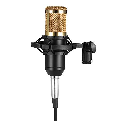 Sangmei BM800 Condenser Microphone Studio Sound Recording Broadcasting com Shock Mount 3,5 mm Cabo de Áudio Esponja Microfone CV#
