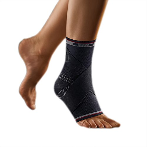 bort 054100 medium links schwarz select TaloStabil Plus Aktiv-Sprunggelnkbandage mit Stabilo-Band, links medium, schwarz
