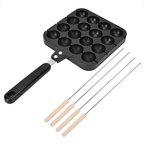 Takoyaki Maker, sartenes Takoyaki de 16 rejillas Molde para hornear Takoyaki japonés antiadherente Horno eléctrico o estufa de gas aplicable