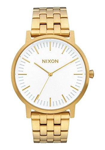 Nixon Unisex Erwachsene Digital Quarz Uhr mit Edelstahl Armband A1057-2443-00