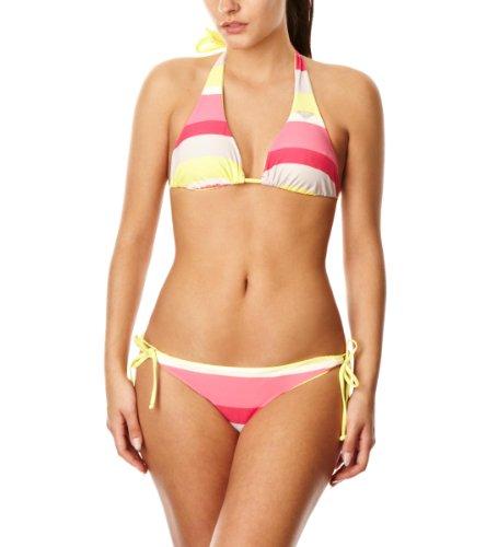Roxy Damen Bikini Laguna Stripe 70's Lowrider Tie Sides RB, bleach laguna s, 38 (M), XMWSM031-