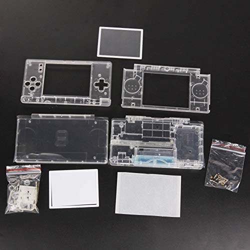 New Full Housing Case Cover Shell with Buttons Replacement Parts for Nintendo DS Lite NDSL Game Console-Crystal Clear