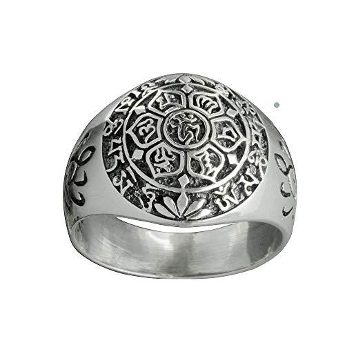 Beldiamo 7 g 925 sterling silver chakra lotusblomma ring andlig ring yoga gåva smycken e...