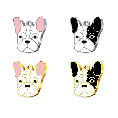 Pet Tag Art French Bulldog Engraved Personalised Pet Tag, Dog Tag, Pet ID Tag