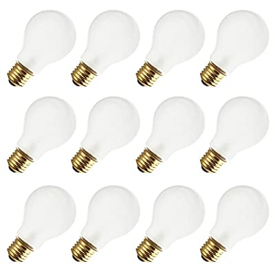 Industrial Performance 100A19/RS 130V, 100 Watt, A19, Medium Screw (E26) Base Rough Service Light Bulb (12 Bulbs)