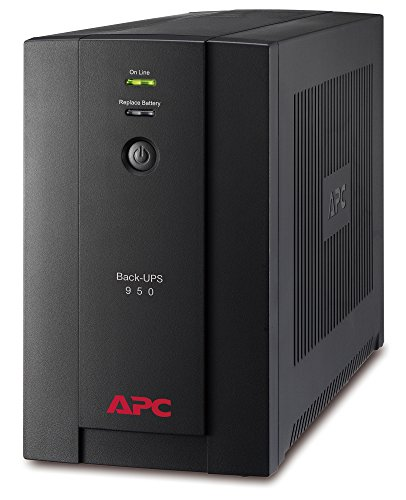 APC BX950UI Back-UPS BX - Sistema de alimentación ininterrumpida SAI, 950VA, 4 salidas tipo IEC, AVR, USB, software de apagado