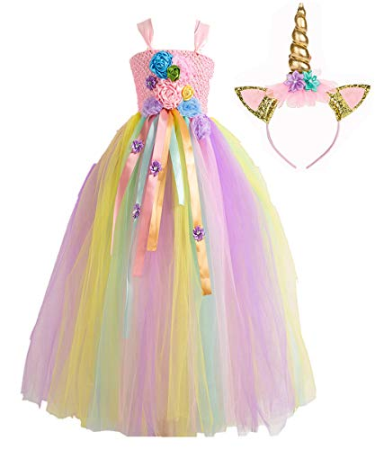 Kawai Perzik Fancy Kleine Meisjes Tutu Jurk met Hoofdband Prinses Cosplay Kostuum Halloween Verjaardag Aankleden