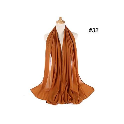 Dames hoofddoek Sjaals en omslagdoeken Hoofddeksels Hoofdomslagdoek Monochroom etnische parel chiffon bubbel vrouwen hijab sjaal Zacht