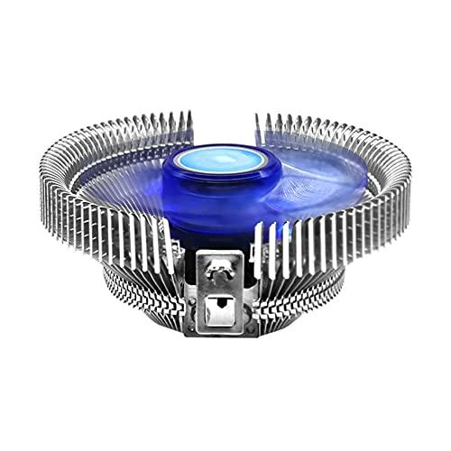 HAOXIU Polar ICEFLOW Be Quiet - Ventilador para CPU (perfil bajo, con láminas de aluminio de 120 mm, compatible con...