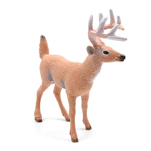 TreeLeaff Forest Animal Figures Toys Christmas Reindeer Realistic White Tailed Deer Action Model Plastic Animal Learning Party Favors Educational Forest Farm Toys for Kids Christmas Style2
