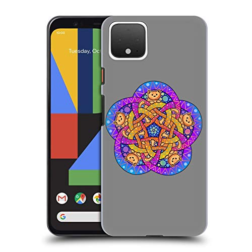 Head Case Designs Officially Licensed Beth Wilson Ginger Celtic Knot Doodle Cats 2 Hard Back Case Compatible with Google Pixel 4