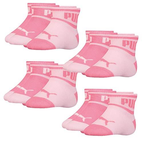 PUMA Babyund Kinder Wording Socken 8er Pack 15-18 19-22 23-26, Größe:19-22, Farbe:Pink (276)