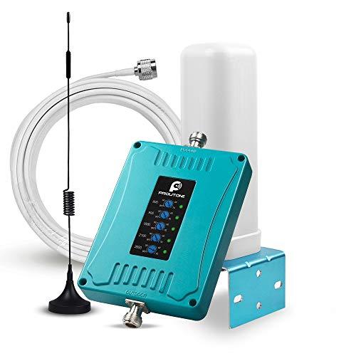 Proutone Amplificador de Señal 4G gsm Repetidor Vodafone Orange Movistar Yoigo Impulse los Datos y la Voz Amplificador de Cobertura Móvil Band 1/3/7/8/20