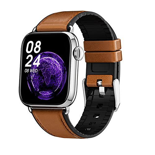 ZGNB Reloj Inteligente QY03, Reloj para Hombres, 1.7 Pulgadas, Control De La Cámara, Ejercicio De Ritmo Cardíaco, Reloj para Mujer para Android iOS,E