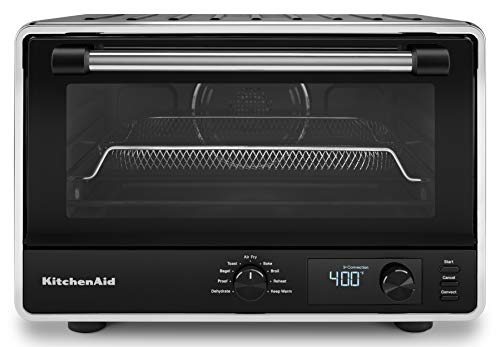 KitchenAid KCO124BM Digital Countertop Oven with Air Fry, Black Matte