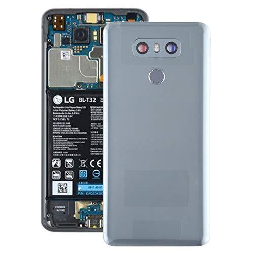 YIHUI Repare Repuestos Tapa Trasera de batería con Lente de cámara y Sensor de Huellas Dactilares for LG G6 / H870 / H870DS / H872 / LS993 / VS998 / US997 (Negro) Partes de refacción (Color : Grey)