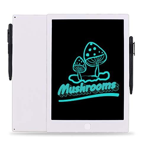 Pizarra de escritura digital LCD de 10 pulgadas con bloqueo de pantalla para niños y adultos, escritura a mano repetida y bloc de dibujo para la oficina en casa (10 pulgadas), color blanco