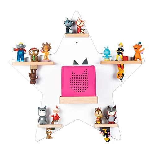 BOARTI das Original Kinder Regal Stern in Weiß - für die Toniebox und ca. 35 Tonies - zum Spielen und Sammeln